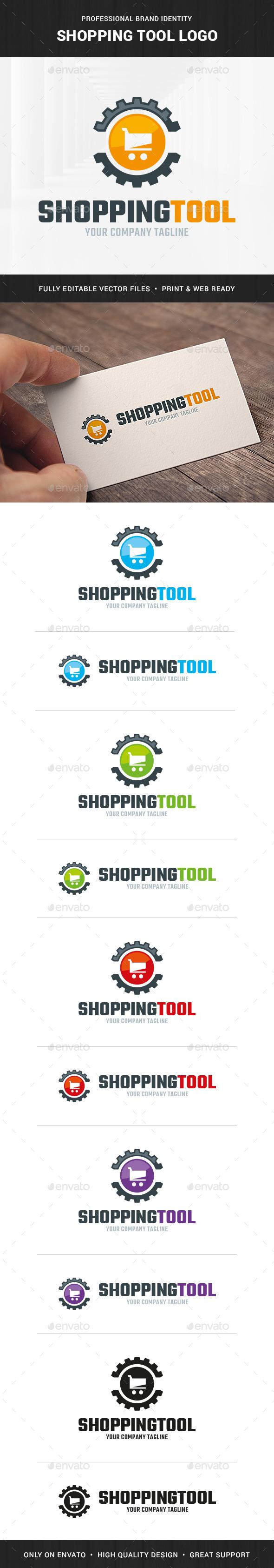 Shopping Tool Logo Template