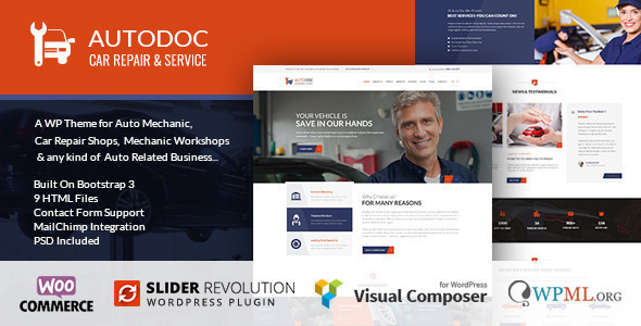 Autodoc - Car Repair Mechanic Theme