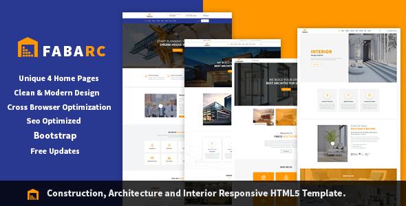 Fabarc | Construction Architecture & Interior Responsive HTML5 Template.