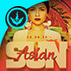 Asian Sun Party Flyer Template - GraphicRiver Item for Sale
