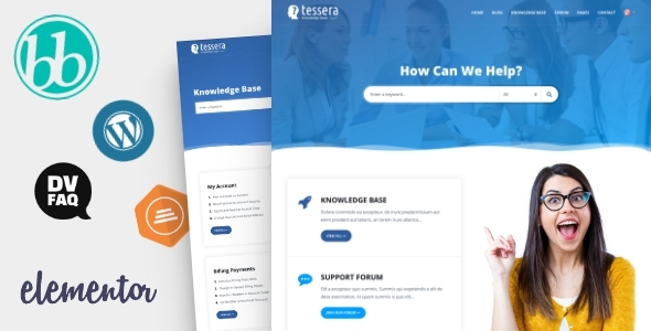 Tessera - Knowledge Base & Support Forum WordPress Theme