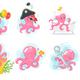 Octopus Cartoons - GraphicRiver Item for Sale