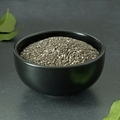 Chia Seeds in a Black Bowl - PhotoDune Item for Sale