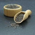 Chia Seeds in a Wooden Bowl and Scoop - PhotoDune Item for Sale