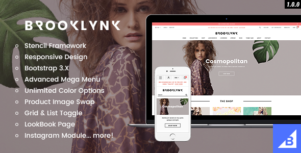 Brooklynk - Premium Responsive Fashion Bigccommerce Template