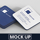 Business Card Mockup Stack Square Round Corners - GraphicRiver Item for Sale
