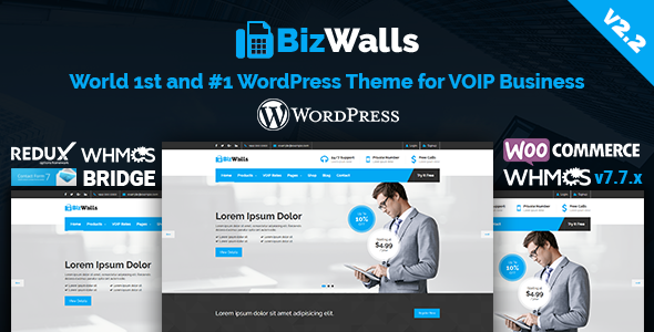 BizWalls | Responsive VOIP & Virtual Phone Business WordPress Theme