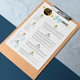 Space Resume CV Template - GraphicRiver Item for Sale