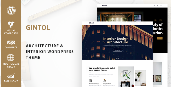 Gintol - Interior And Architecture WordPress Theme
