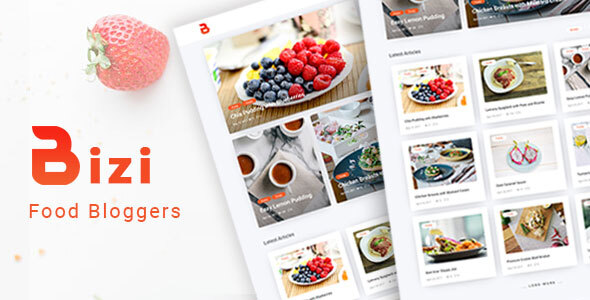 Bizi - A WordPress Theme for Food Bloggers