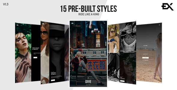 The Dive || Creative One Page Photography / Portfolio Template