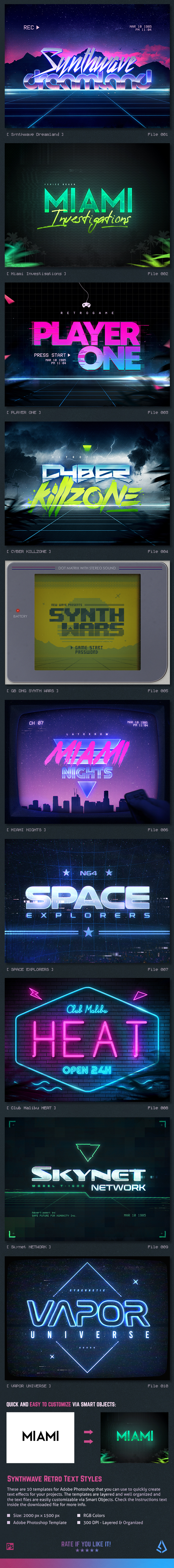 Synthwave Graphics, Designs & Templates from GraphicRiver