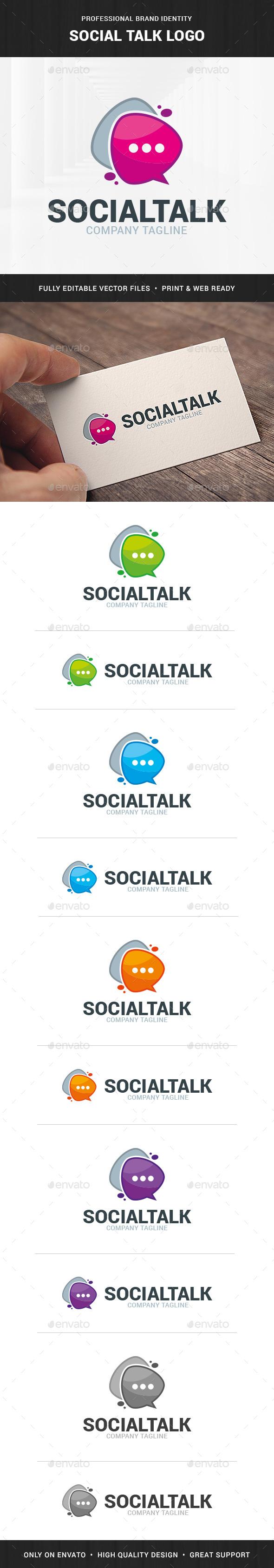 Social Talk Logo Template