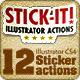 Stick-it ! Illustrator Sticker Actions - GraphicRiver Item for Sale