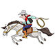 Cartoon Cowboy Riding His Horse Fast Vector Illustration - GraphicRiver Item for Sale