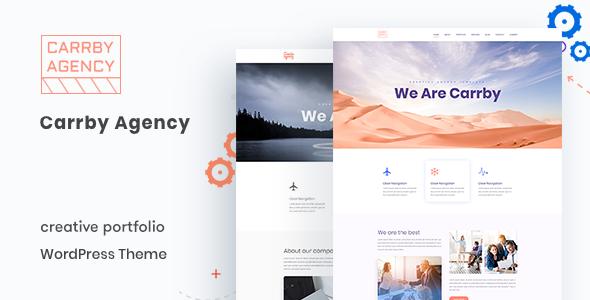 Carrby - Agency Portfolio WordPress Theme