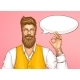 Hipster Man Showing Ok Sign Cartoon Vector - GraphicRiver Item for Sale