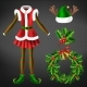 Christmas Celebration Attributes Vector Set - GraphicRiver Item for Sale