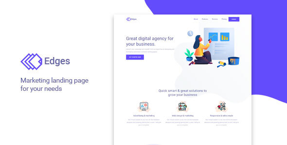 Edges - Multipurpose Landing Page Template
