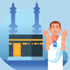 Hajj Pilgrimage Flat Style Character - GraphicRiver Item for Sale