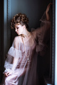 Fashionable female portrait of cute lady in pink dress indoors - PhotoDune Item for Sale