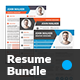 Creative Resume Bundle 3 in 1 - GraphicRiver Item for Sale