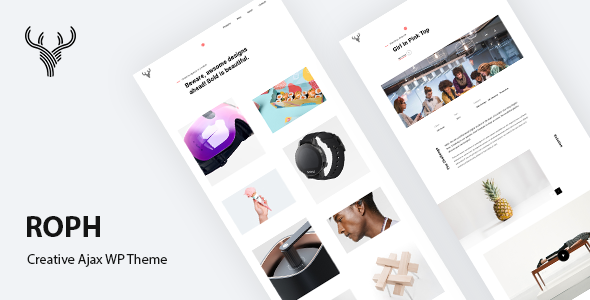 Roph - Creative Ajax Portfolio WordPress Theme