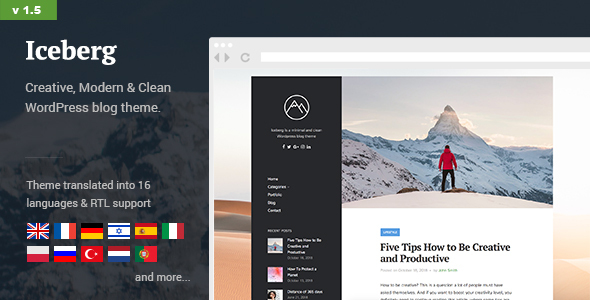 Iceberg - Simple & Minimal Personal Wordpress Blog Theme