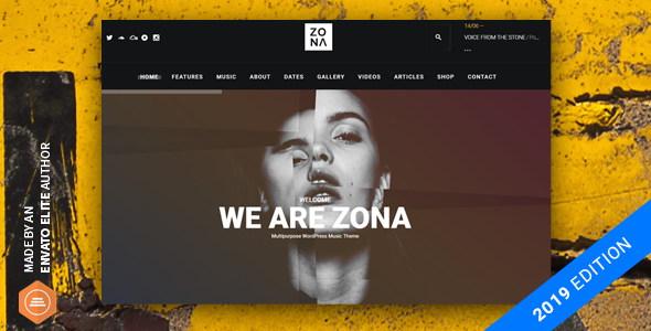 Zona - Music WordPress Theme with Ajax and Continuous Playback
