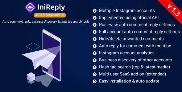 IniReply:A EZ Inboxer Addon–Auto Reply of Comment, Business