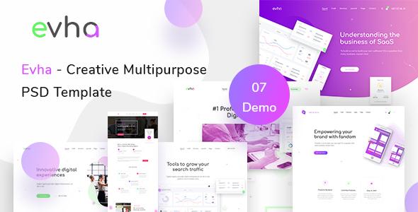 Evha – Creative Multipurpose  PSD Template