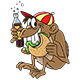 Cartoon Monkey Eating Hamburger and Drinking Coke - GraphicRiver Item for Sale