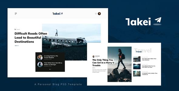 Takei - Personal Blog PSD Template