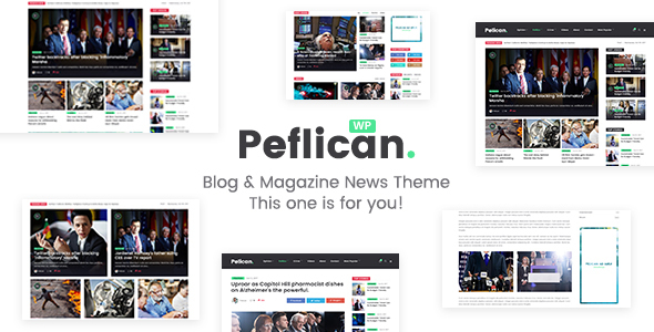 Peflican - A Newspaper and Magazine WordPress Theme