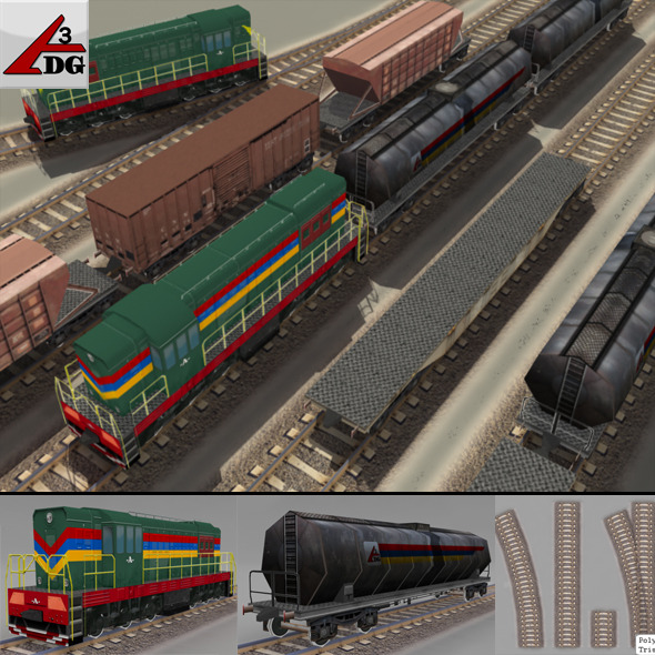 Train CG Textures & 3D Models from 3DOcean