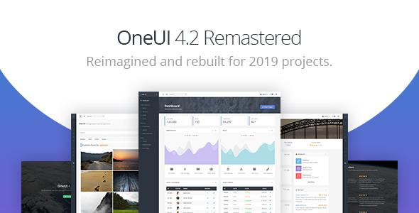 OneUI - Bootstrap 4 Admin Dashboard Template & Laravel Starter Kit