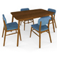 Henry 5 Piece Wood Dining Set - 3DOcean Item for Sale