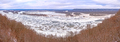 Frozen River Confluence Panorama in Winter - PhotoDune Item for Sale