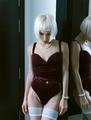 Beautiful blonde girl in sexy vintage underwear. Romantic date c - PhotoDune Item for Sale