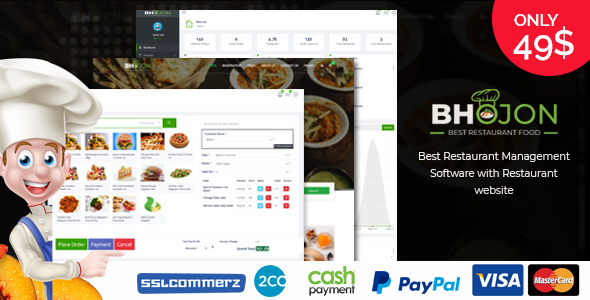 Bhojon - Best Restaurant Management Software with Restaurant Website Download
