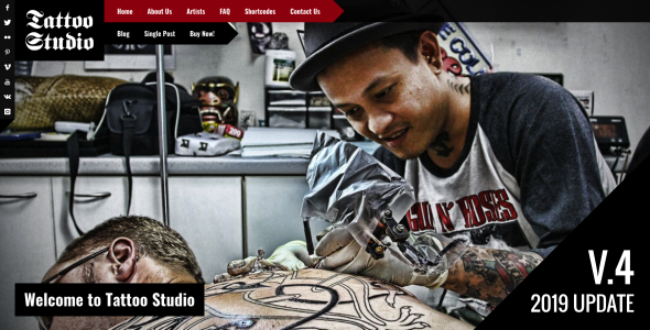 Tattoo Studio - Responsive WordPress Theme