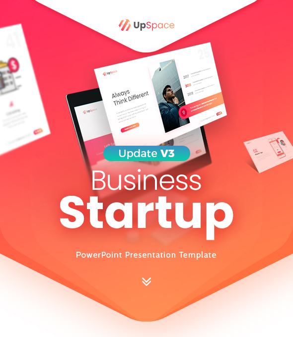 UpSpace Business Startup PowerPoint Presentation Template