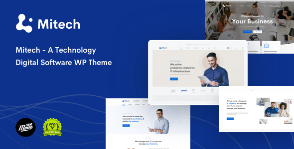 Mitech - Technology IT Solutions & Services WordPress Theme