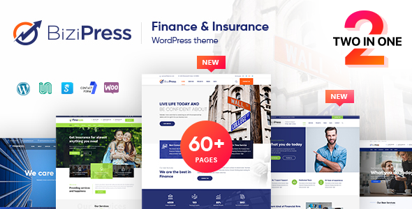 BiziPress - Finance Insurance Agency WordPress Theme