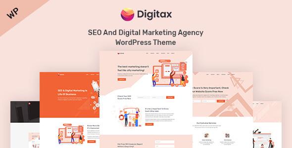Digitax - SEO & Digital Marketing Agency WordPress Theme