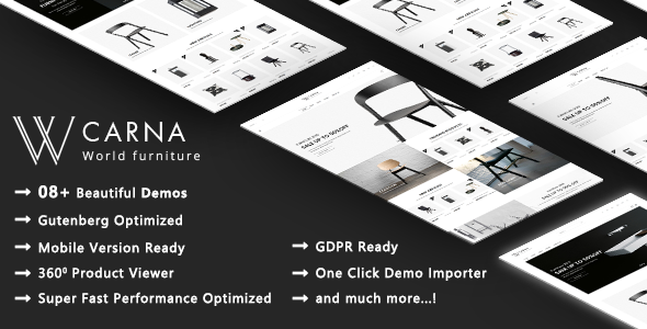 Carna - Clean Furniture Apartment Design WooCommerce WordPress Theme