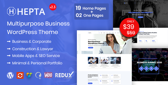 Hepta Business – Multipurpose Business WordPress Theme