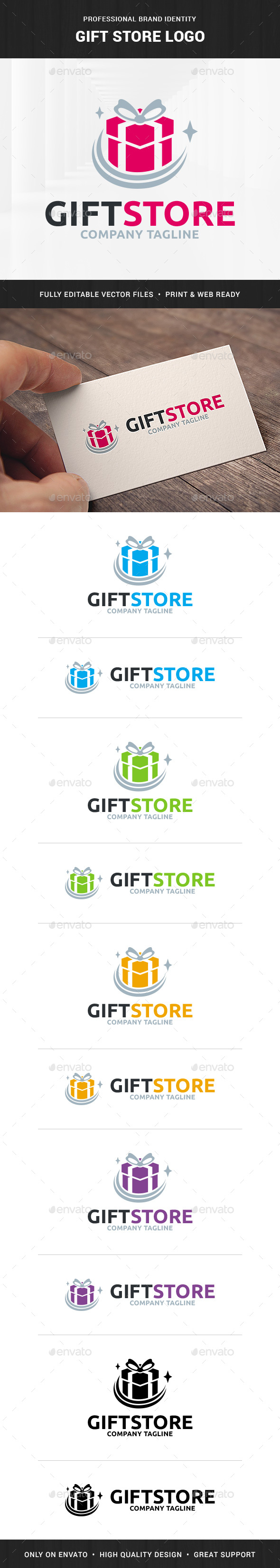 Gift Store Logo Template