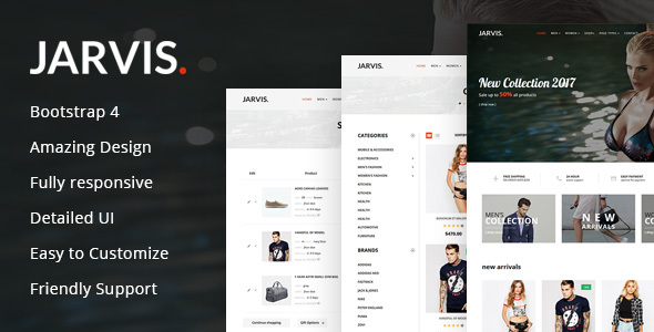 Jarvis - Multipurpose eCommerce HTML Template - Crack Theme