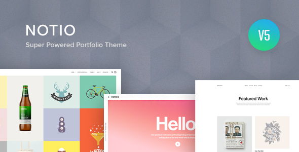 Notio - Creative Portfolio WordPress Theme